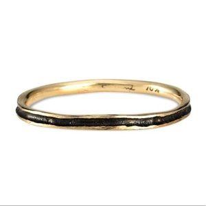 Satomi Kawakita Black rhodium band stacking ring